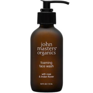 Żel do mycia twarzy z różą i kwiatem lipy John Masters Organics 112 ml