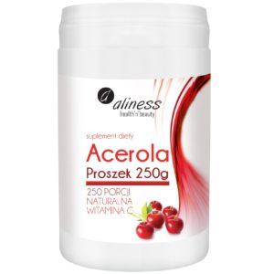 Acerola Aliness w proszku 250 g | Naturalna Vitamina C