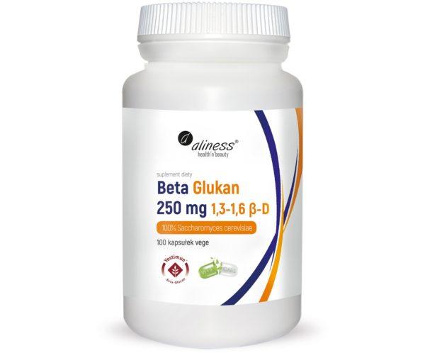Aliness Beta Glukan Yestimun® 1,3-1,6 β-D 250 mg 100 kapsułek