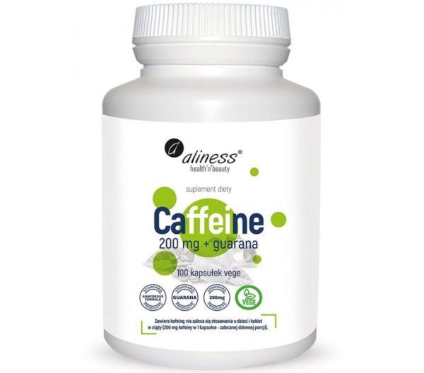 Aliness Caffeine 200 mg z guaraną 100 kapsułek