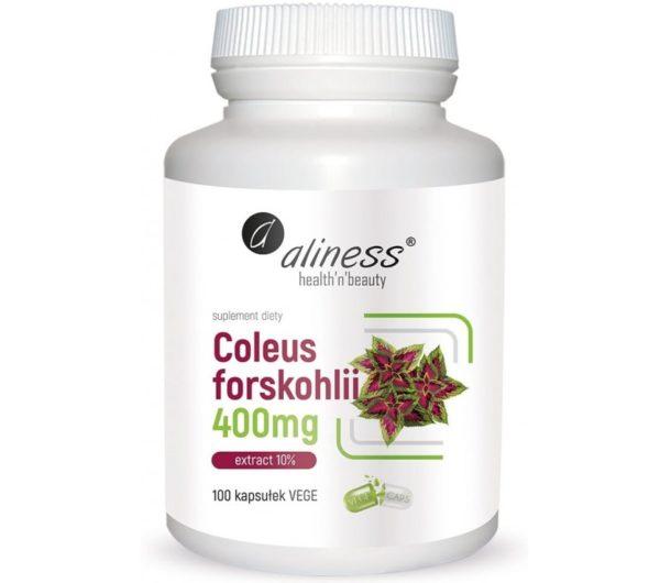 Aliness Coleus forskohlii 400 mg 100 kaps.   Pokrzywa indyjska
