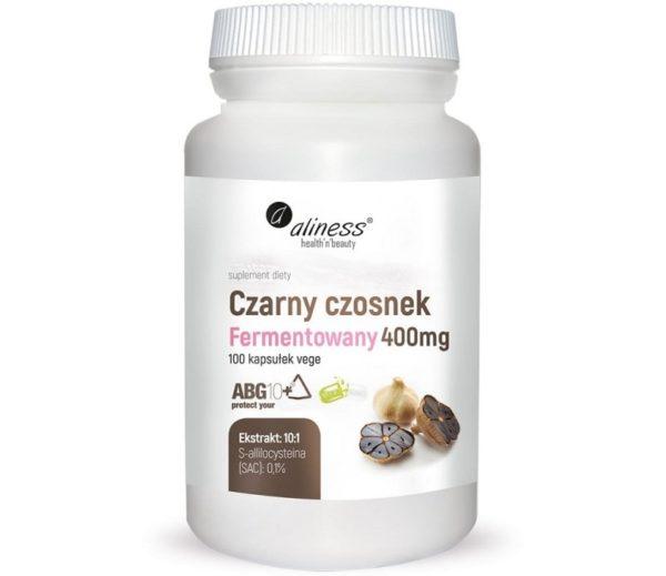 Aliness czarny czosnek fermentowany 400 mg 100 kapsułek   S-allilocysteina