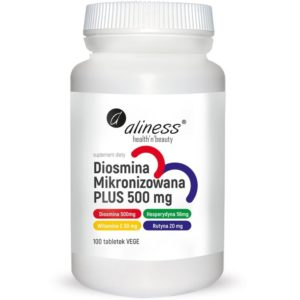 Aliness Diosmina Mikronizowana Plus 500 mg 100 tabletek