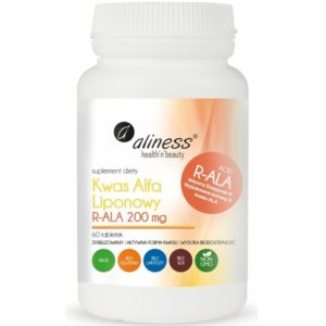 Aliness Kwas alfa liponowy R-ALA 200 mg 60 tabletek