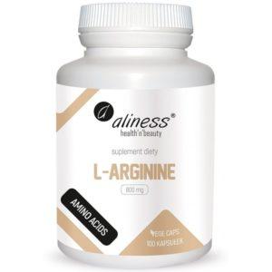 Aliness L-arginine 800 mg 100 kapułek | L-arginina