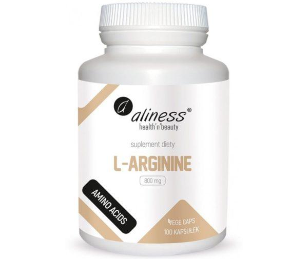 Aliness L-arginine 800 mg 100 kapułek   L-arginina