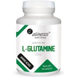 Aliness L-glutamine 500 mg 100 kapsułek | L-glutamina