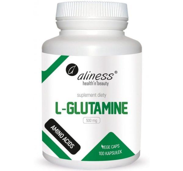 Aliness L-glutamine 500 mg 100 kapsułek   L-glutamina
