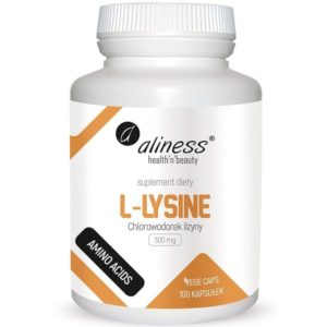 Aliness L-lysine 500 mg 100 kapsułek | Chlorowodorek lizyny | Lizyna HCL