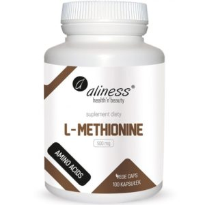 Aliness L-methionine 500 mg 100 kapsułek | L-metionina