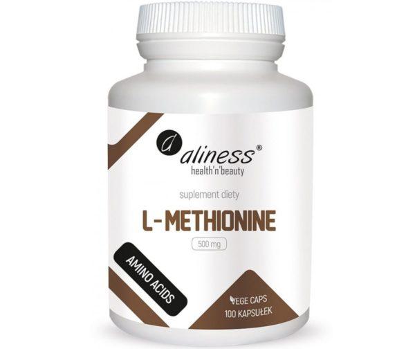 Aliness L-methionine 500 mg 100 kapsułek   L-metionina
