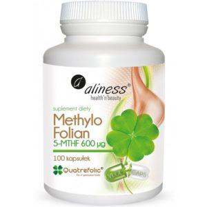 Aliness Methylo folian 5-MTHF 600 mcg 100 kapsułek