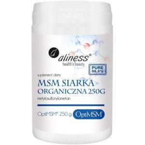 Aliness Msm siarka organiczna 250 g Optimsm (Metylosulfonylometan)