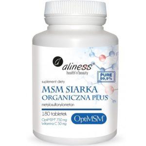 Aliness MSM siarka organiczna Plus 180 tabletek