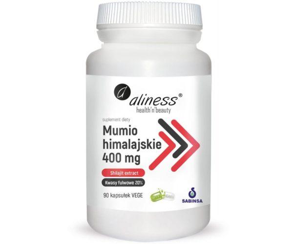 Aliness Mumio himalajskie (shilajit extract) 400 mg 90 vege kapsułek