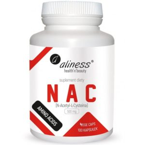 Aliness NAC 500 mg 100 kapsułek | N-acetyl-l-cysteina
