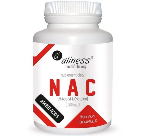 Aliness NAC 500 mg 100 kapsułek   N-acetyl-l-cysteina