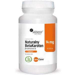 Aliness naturalny BetaKaroten 14 mg 100 wege tabletek | ProWitamina A