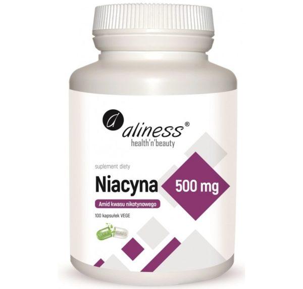 Aliness Niacyna 500 mg 100 kapsułek | Amid kwasu nikotynowego