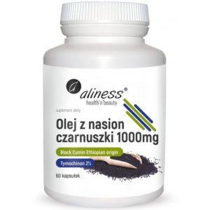 Aliness olej z nasion czarnuszki 1000 mg 60 kapsułek
