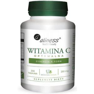 Aliness optymalna witamina C 250 mg 200 kapsułek