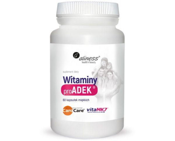 Aliness ProADEK ® Witaminy 60 kapsułek   Witamina A, D3, E, K2