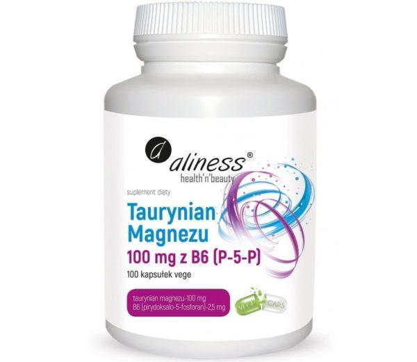 Aliness Taurynian magnezu 100 mg z B6 (P-5-P) 100 kapsułek