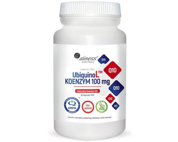 Aliness UbiquinoL Kaneka koenzym Q10 100 mg 60 kapsułek