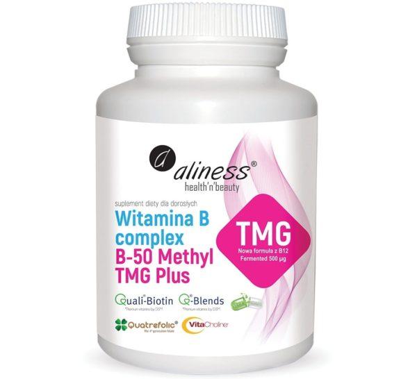 Aliness witamina B complex B-50 Methyl TMG Plus 100 kapsułek