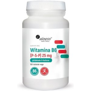 Aliness Witamina B6 (P-5-P) 25 mg 100 tabletek   Piridoksalo-5-fosforan