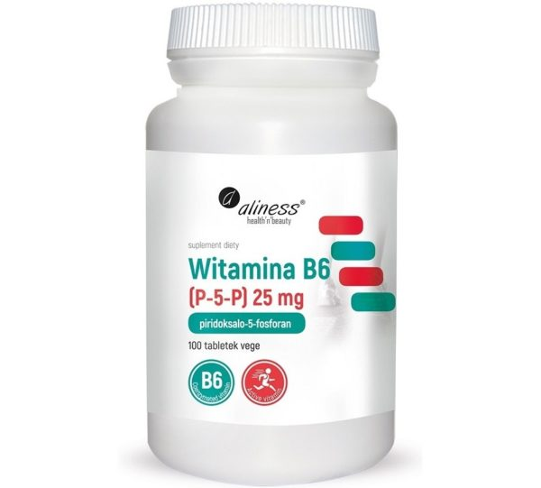 Aliness Witamina B6 (P-5-P) 25 mg 100 tabletek | Piridoksalo-5-fosforan