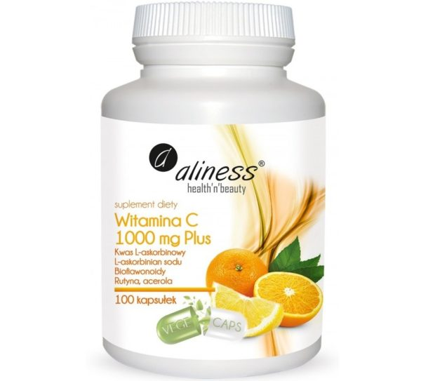 Aliness Witamina C 1000 mg Plus 100 kapsułek