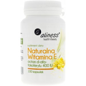 Aliness witamina E 400 IU 100 kapsułek | Octan d-alfa-tokoferylu