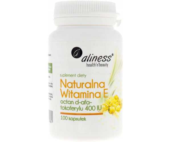 Aliness witamina E 400 IU 100 kapsułek   Octan d-alfa-tokoferylu