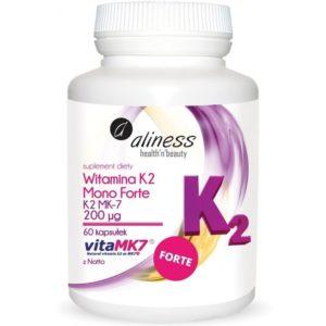 Aliness Witamina K2 Mono Forte MK-7 200 μg z natto 60 kapsułek
