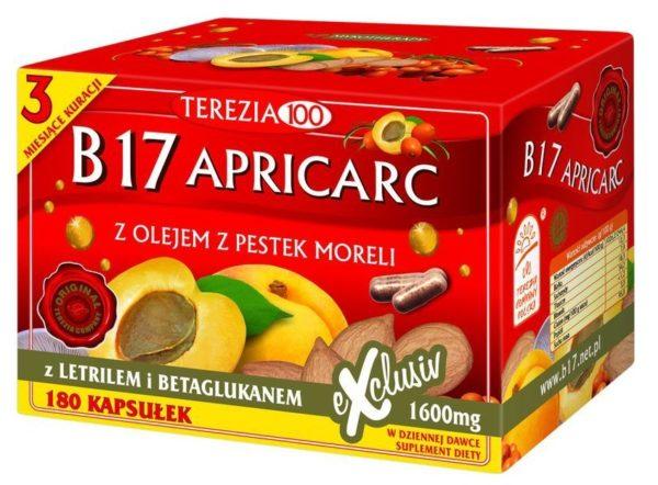 Apricarc B17 Terezia 180 szt. | Witamina B17, amigdalina, pestki moreli, reishi