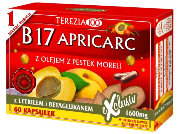 B17 Apricarc Terezia 60 sztuk | Amigdalina, letril, pestki moreli, reishi