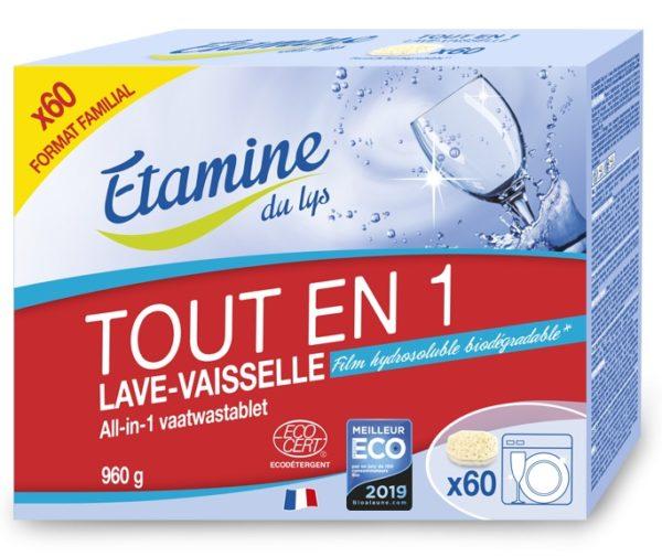 Bezzapachowe tabletki do zmywarki All-in-One Etamine du Lys 60 sztuk