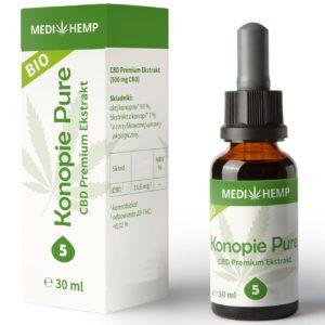 Bio olejek CBD 5% Medihemp 30 ml