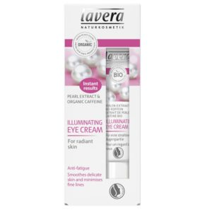 Błyskawicznie rozjaśniający krem pod oczy bio-perła i bio-kofeina Lavera 15 ml