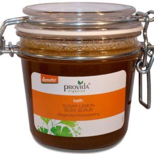 Cytrynowy peeling ekologiczny do ciała Provida Organics 200 ml
