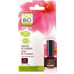 Ekologiczny lakier do paznokci 07 Rouge Velours SO BIO étic 10 ml