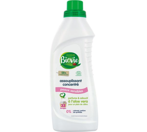 Ekologiczny skoncentrowany płyn zmiękczający z aloesem Biovie 1 L