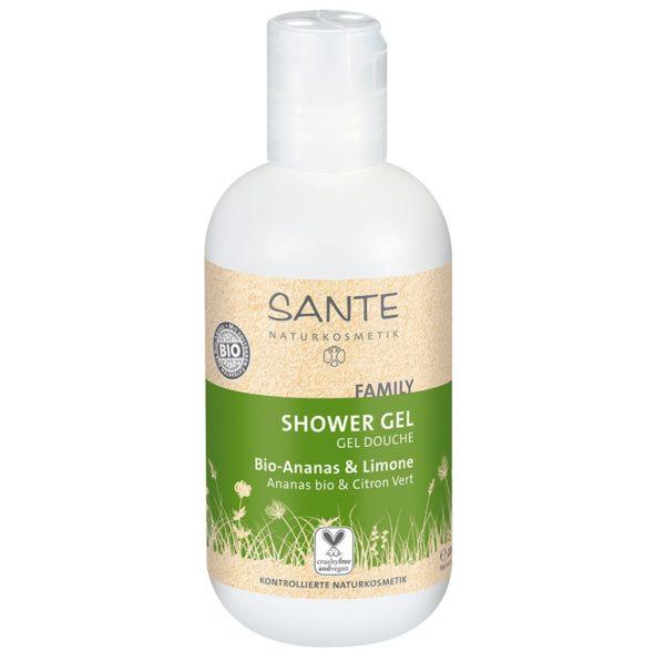 Ekologiczny żel pod prysznic z ananasem i cytryną Family Sante 200 ml