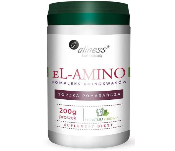 eL-AMINO Aliness 200 g | Kompleks aminokwasów gorzka pomarańcza