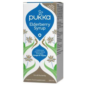 Elderberry syrop dla układu oddechowego Pukka Herbs