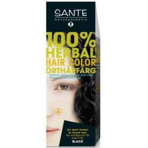 Farba roślinna do włosów Czarna Sante Naturkosmetik