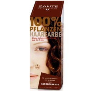 Ekologiczne farby do włosów | Farba roślinna Kasztanowy Brąz Sante Naturkosmetik