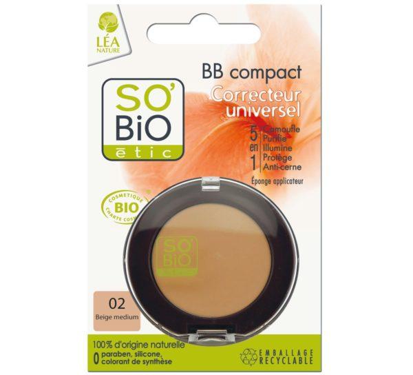 Korektor BB w kompakcie SO BiO 02 średni beż 3,8 g