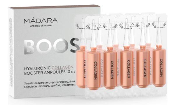 MADARA Collagen Booster ampułki nawilżające z kwasem hialuronowym 10 x 3 ml